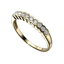 18ct gold 0.25ct diamond ring - Product number 3530205