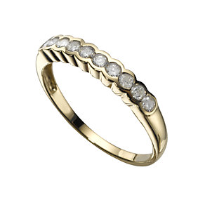 18ct gold quarter carat diamond ring - Product number 3530205