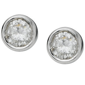 9ct white gold third carat diamond solitaire earrings - Product number 3533662