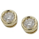 9ct gold third carat diamond solitaire earrings - Product number 3533670