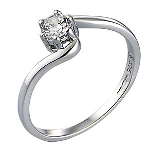 9ct White Gold Cubic Zirconia Ring - Product number 3535150