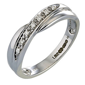 9ct White Gold Diamond Ring - Product number 3536955