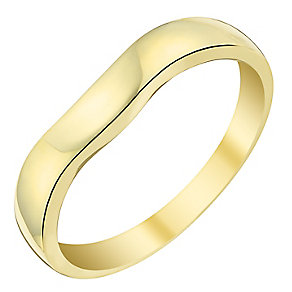 9ct Yellow Gold Shaped Wedding Band With Slight Curve - Product number 3538176