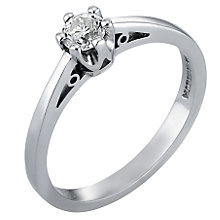 9ct White Gold Quarter Carat Diamond Solitaire Ring - Product number 3538567