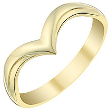 Ladies' 9ct Yellow Gold V Shaped Wedding Ring - Product number 3538788