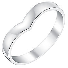 Ladies' 9ct White Gold Shaped Wide Wedding Ring - Product number 3539210