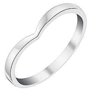 Ladies' 9ct White Gold Shaped Slim Wedding Ring - Product number 3539407
