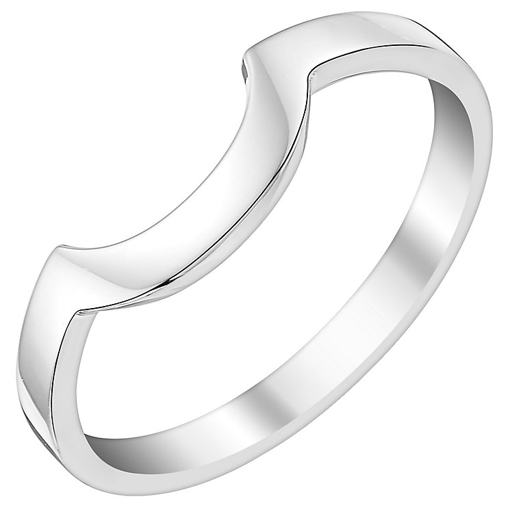 Ladies' 9ct White Gold Curved Wedding Ring - Product number 3539687