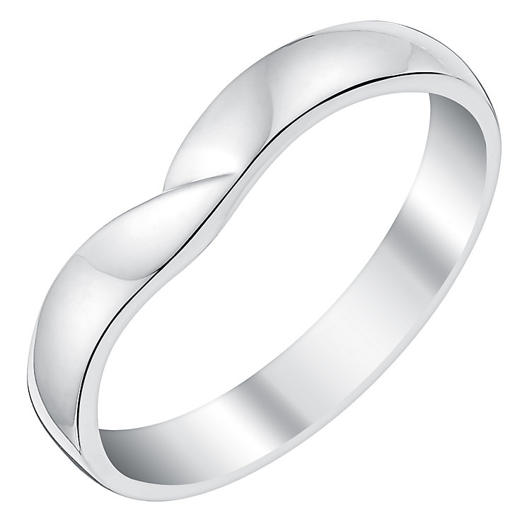Ladies' 9ct White Gold Crossover Shaped Wedding Ring - Product number 3540103