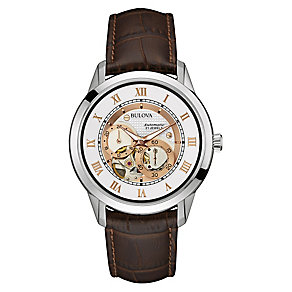Bulova Men's Automatic Skeleton Strap Watch - Product number 3542408