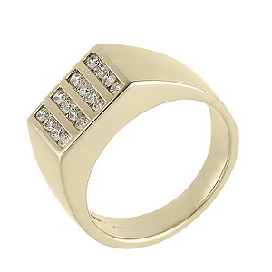 Men's 9ct gold half carat diamond ring - Product number 3545520