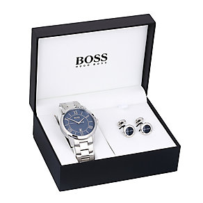 Hugo Boss Men's Cuff Links & Bracelet Watch Gift Set - Product number 3545962