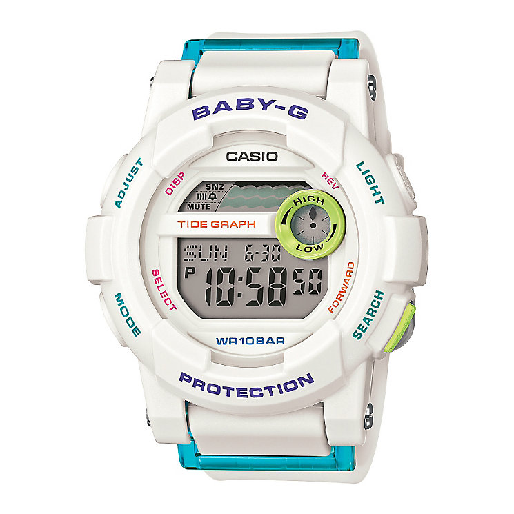 Baby-G G-Lide Ladies' White  Digital Watch - Product number 3546551