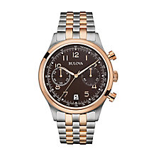 Bulova Men's Two Colour Stainless Steel Bracelet Watch - Product number 3546837