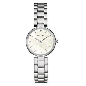 Bulova Ladies' Mother of Pearl & Diamond Bracelet Watch - Product number 3547256