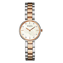 Bulova Ladies' Diamond Set Two Colour Bracelet Watch - Product number 3547264