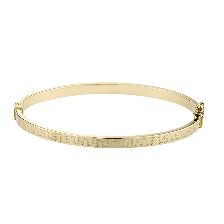 9ct Gold Greek Key Bangle - Product number 3547876