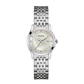 Bulova Ladies' Diamond Set Stainless Steel Bracelet Watch - Product number 3547949