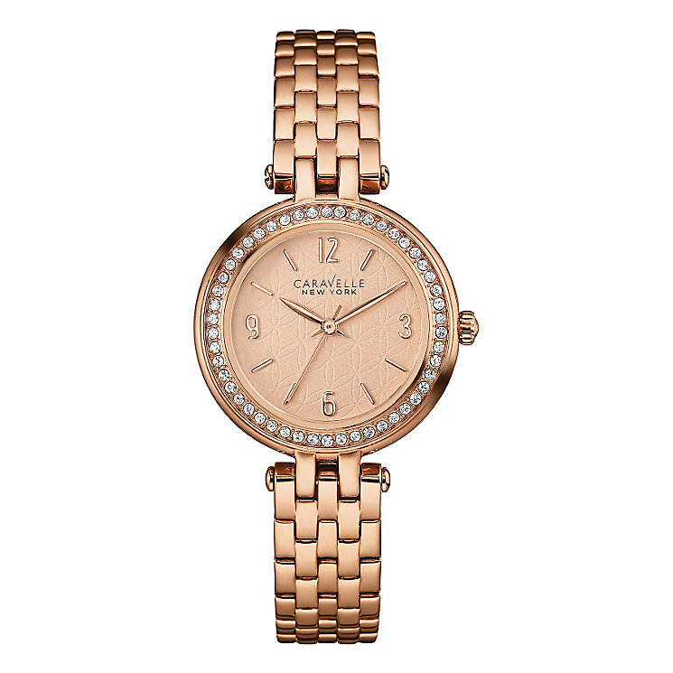 Caravelle New York Ladies' Rose Gold-Plated Bracelet Watch - Product number 3549623