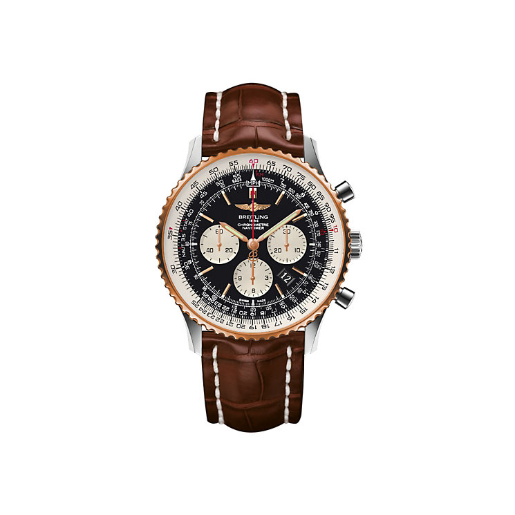 Breitling Navitimer 01 46 men's two colour strap watch