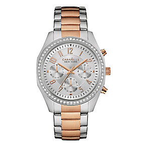 Caravelle New York Ladies' Two Colour Steel Bracelet Watch - Product number 3549909
