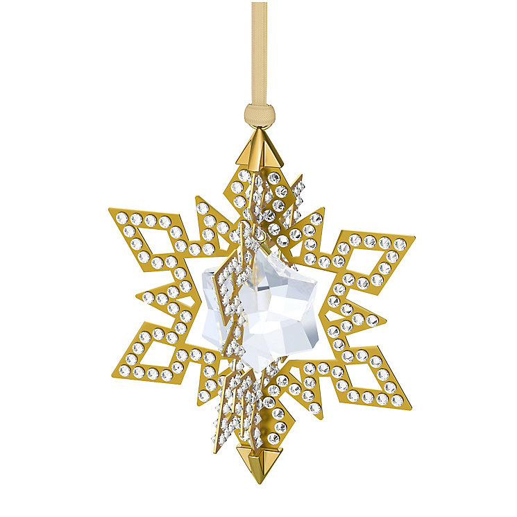 Swarovski 2015 Yellow Gold Tone Christmas Star Ornament - Product number 3557413