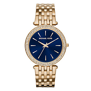Michael Kors Darci ladies' gold-plated bracelet watch - Product number 3558630