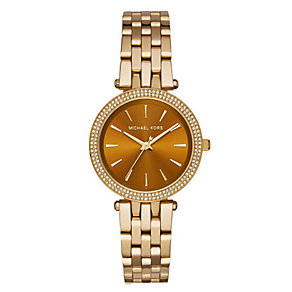 Michael Kors Darci ladies' gold-plated bracelet watch - Product number 3558649