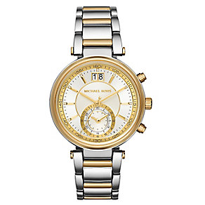 Michael Kors Sawyer ladies' two colour bracelet watch - Product number 3558681