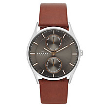 Skagen Men's Holst Brown Leather Strap Watch - Product number 3559017