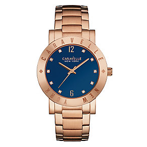 Caravelle New York Ladies' Rose Gold-Plated Bracelet Watch - Product number 3560317