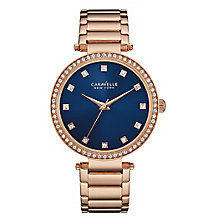Caravelle New York Ladies' Rose Gold-Plated Bracelet Watch - Product number 3560635