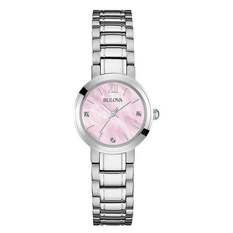 Bulova Ladies' Mother Of Pearl Dial Steel Bracelet Watch - Product number 3562689