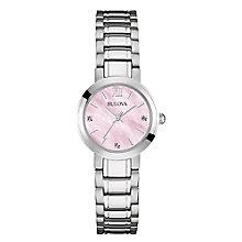 Bulova Ladies' Mother Of Pearl Dial Steel Bracelet Watch - Product number 3562689