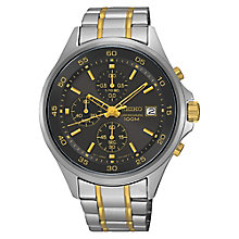 Seiko Men's Chronograph Two Colour Steel Bracelet Watch - Product number 3562794