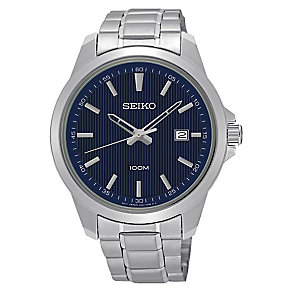 Seiko Men's Blue Dial Stainless Steel Bracelet Watch - Product number 3562824