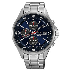 Seiko Men's Chronograph Stainless Steel Bracelet Watch - Product number 3562859