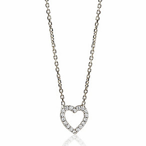 Sterling Silver & Cubic Zirconia Heart Pendant - Product number 3563391