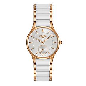 Roamer Ceramic Ladies' Two Colour Bracelet Watch - Product number 3564460