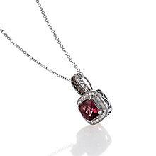 Le Vian 14ct Vanilla Gold diamond rhodolite pendant - Product number 3565882