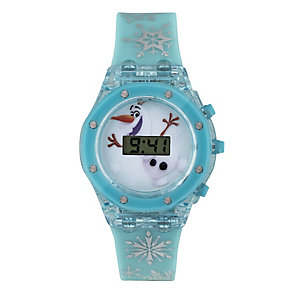 Children's Olaf Light-Up Dial Digital Plastic Strap Watch - Product number 3565890