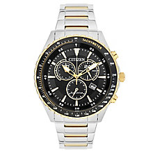 Citizen Eco-Drive Men's Two Colour Steel Bracelet Watch - Product number 3565939