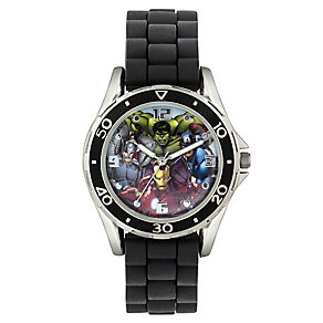 Children's Marvel Black Rubber Strap Watch - Product number 3566110