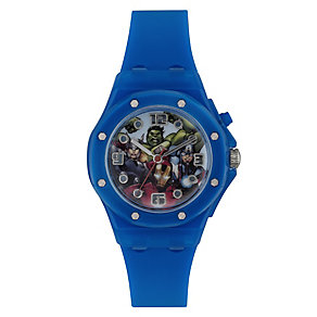 Children's Marvel Light-Up Blue Rubber Strap Watch - Product number 3566129
