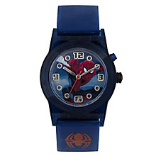 Children's Spiderman Light-Up Blue Rubber Strap Watch - Product number 3566137