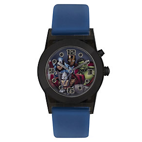 Children's Avengers Flashing Lights Blue Strap Watch - Product number 3566153