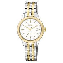 Citizen Eco-Drive Ladies' Two Colour Steel Bracelet Watch - Product number 3567788