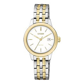 Citizen Eco-Drive Ladies' Two Colour Steel Bracelet Watch - Product number 3567788