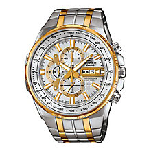 Casio Edifice Men's Two Colour Steel Bracelet Watch - Product number 3567982