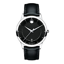 Movado 1881 men's stainless steel black dial strap watch - Product number 3571491